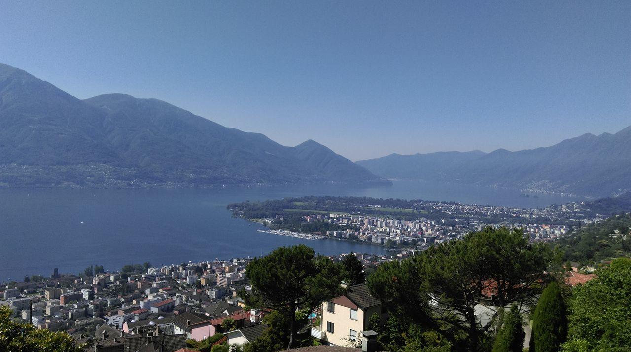 Vista Panorama Delta Locarno Lago Maggiore, Ticino