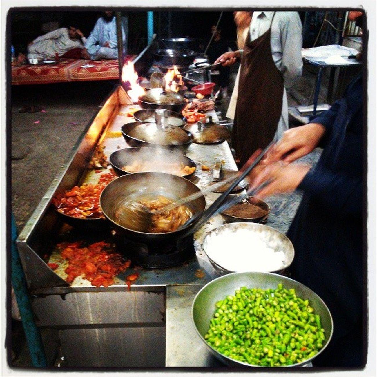Rawalpindi Live Cooking Karhai instafood dinner discover Pakistan