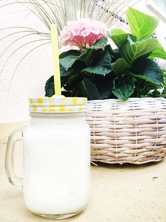 The Essence Of Summer Summer Drinks Smoothie Jar Outside Flower Flowers Healthy Fit Fitness Health Weightloss Enjoying The Sun Photography