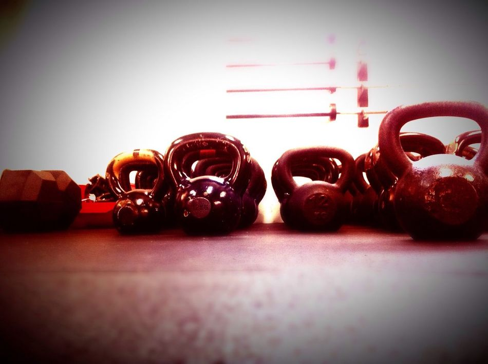 Kettlebell  Working Hard On It Sore Muscles