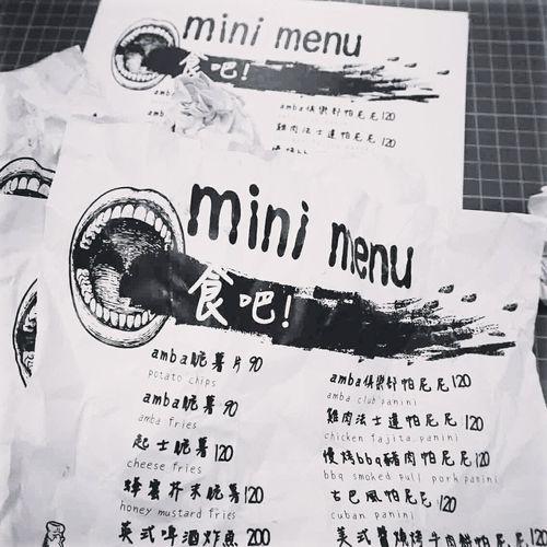Legacy mini menu。柔爛,資源回收的概念。 Menu Legacy Mini @ Amba Blackandwhite Black & White Art Drawing