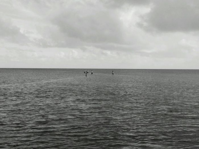 Humans Nature Sea Sea And Sky Possibilities  Horizons Limitless Blackandwhite