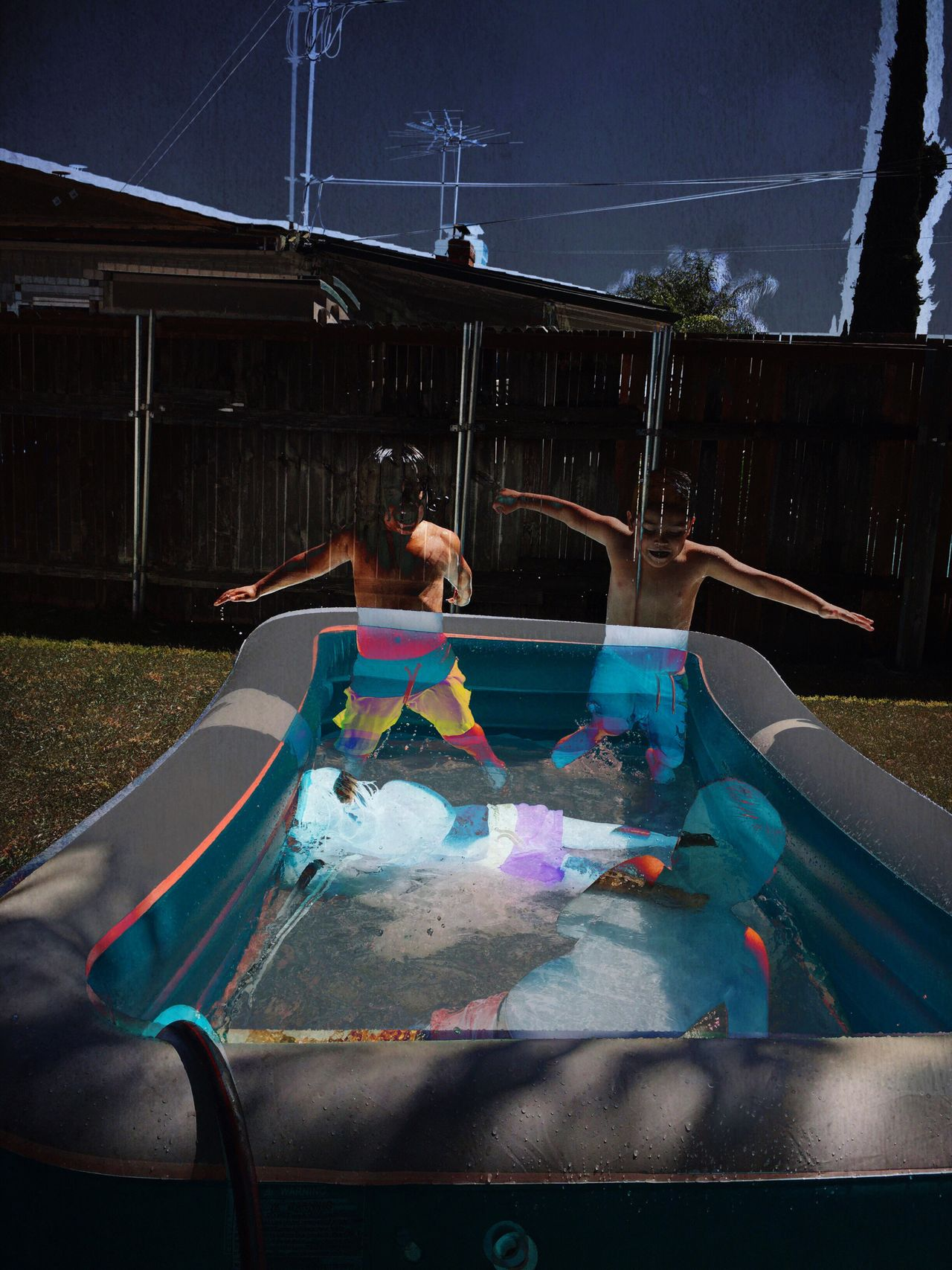 Wonder boys One Person Real People Jumping Swimming Pool Shirtless Water Outdoors Night People Sky Adult Young Adult Building Exterior Boys Fun Summer Joy Double Exposure Cut And Paste Cut And Paste EyeEmNewHere The Week On EyeEm Art Is Everywhere The Great Outdoors - 2017 EyeEm Awards The Photojournalist - 2017 EyeEm Awards Live For The Story Live For The Story