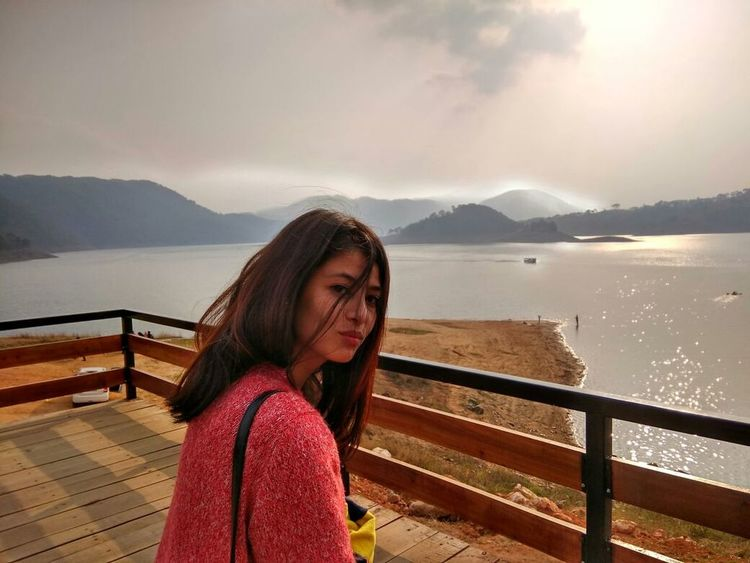 Hair All Over... 😂 😂 😂 😂 One Young Woman Only Meghalaya Shillong Enjoying Nature Check This Out :) Cheese