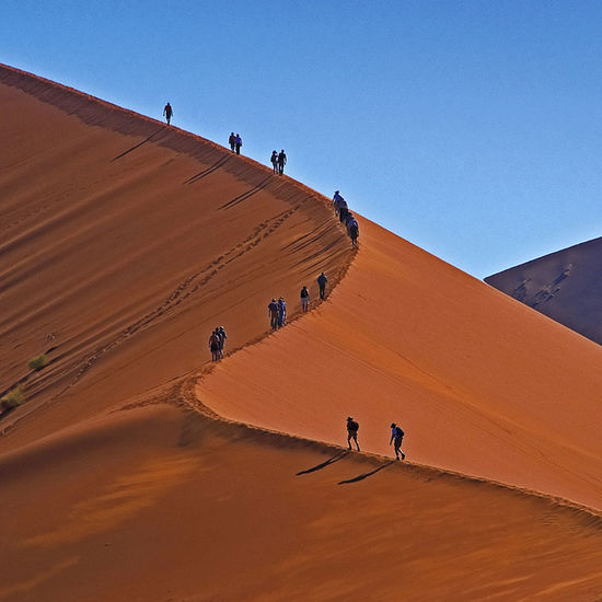 To the top! Namibia Traveling Africa Desert Trekking Sossusvlei Namib Naukluft National Park Namib Desert Dunes