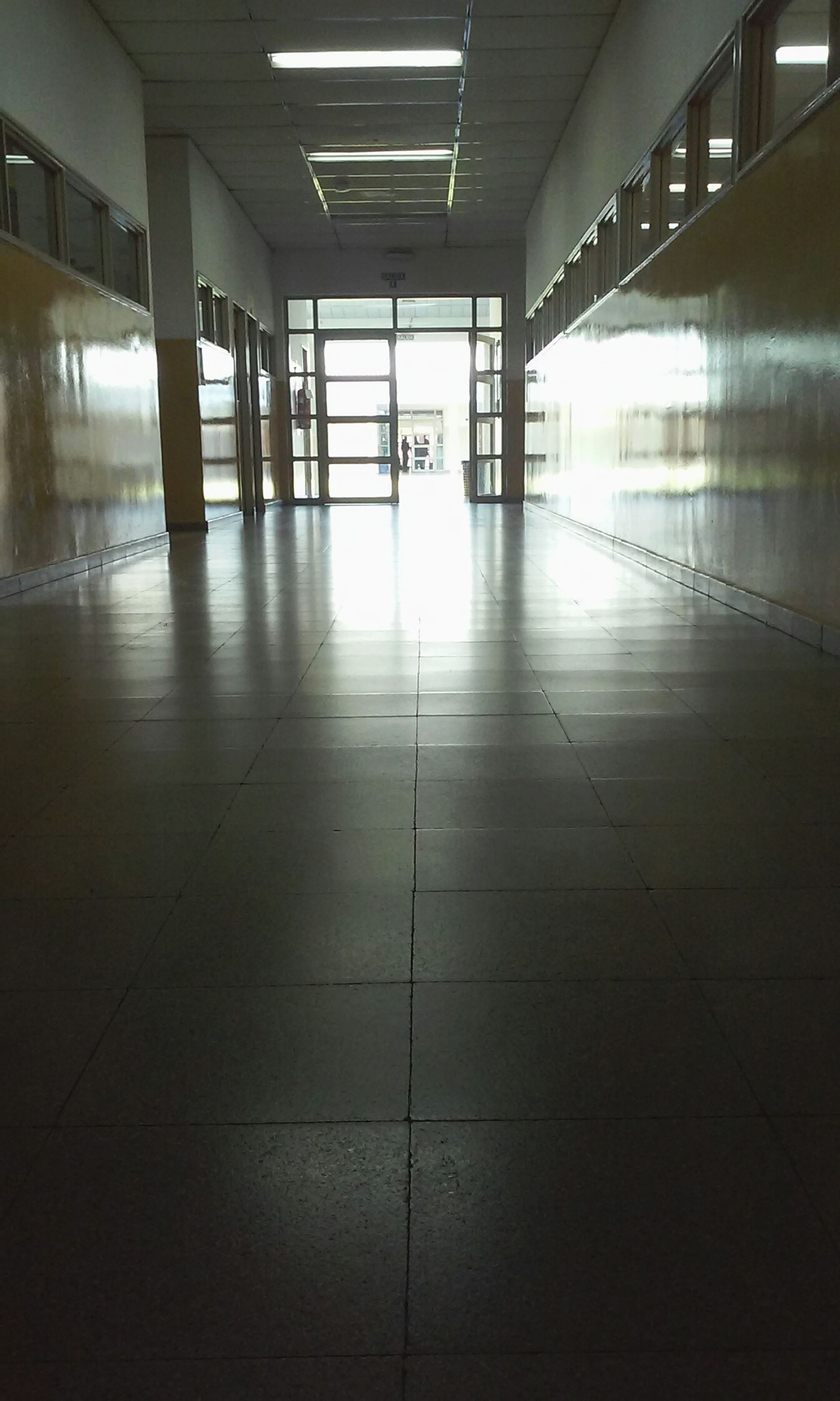 indoors, empty, corridor, the way forward, one person, architecture, day, full length, men, people