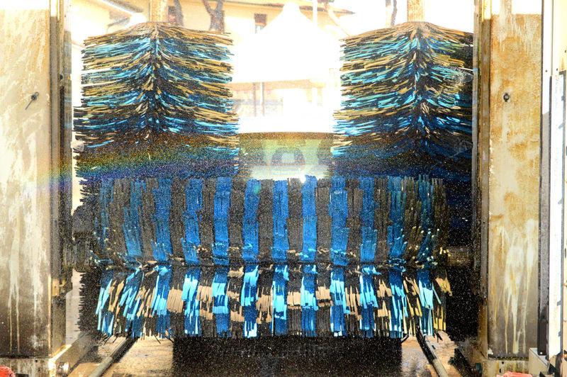 Car Wash Machine Rainbow Reflection Rotors Selfservice Washing Water