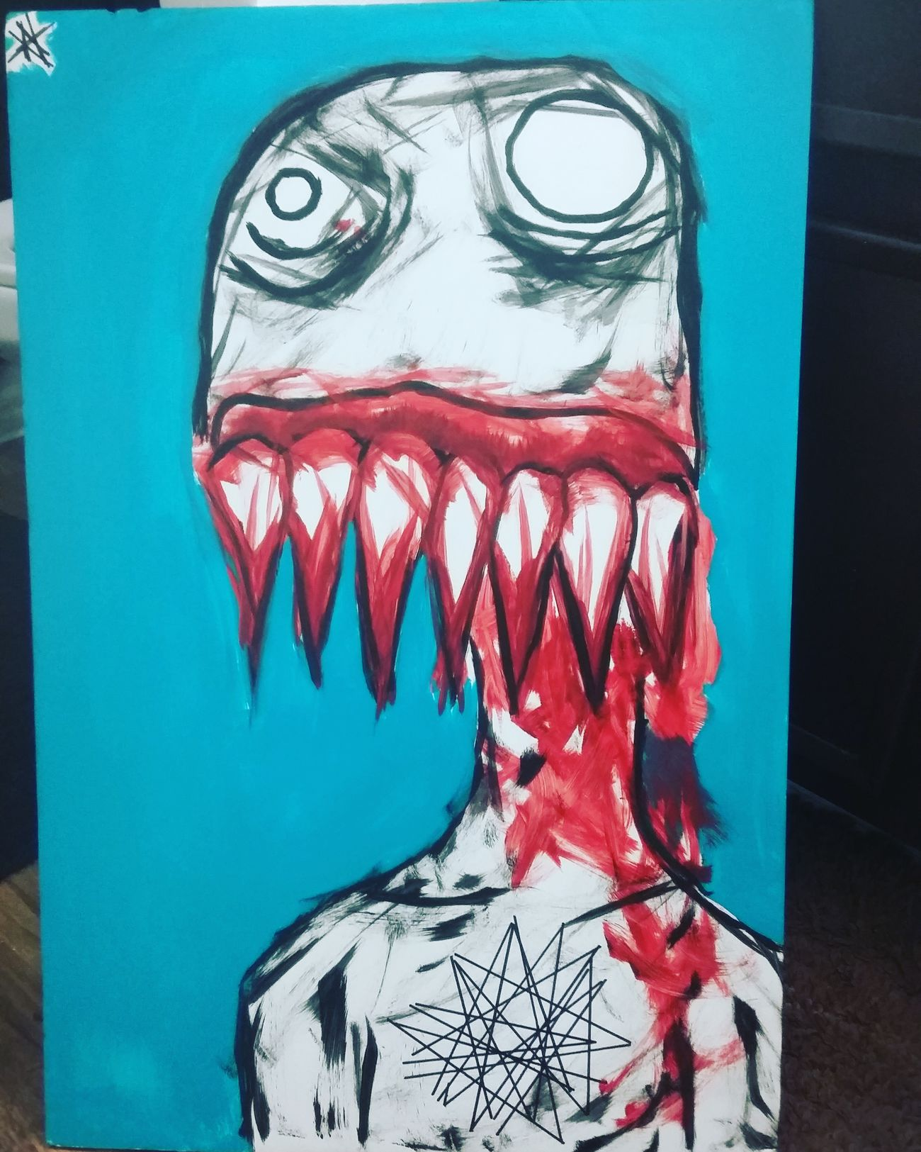 Check out my artwork :) Creepy Painting Dank_space BLOODY Darkart Passion Artislife Check This Out Hello World Gas 2017 Ink DOPE