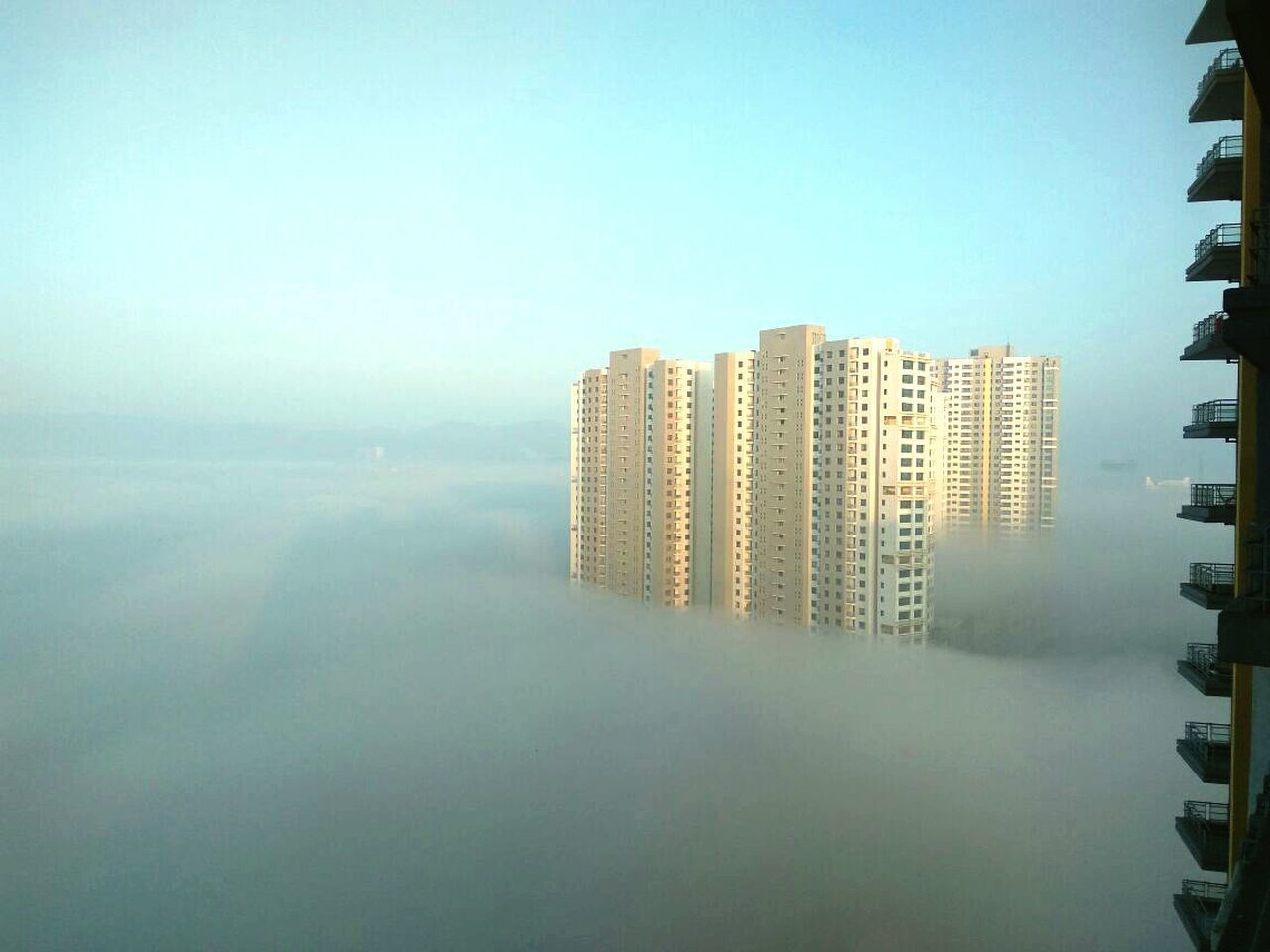 skyscraper foggy morning First Eyeem Photo