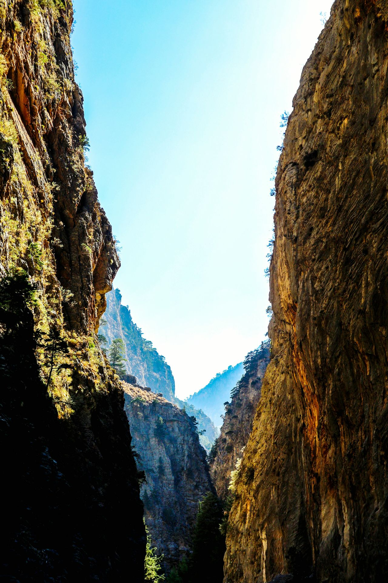 Nature No People Outdoors Beauty In Nature Greece Crete Samaria Gorge Rocks Gorge Canyon Felswand Mountain Schlucht The Way Forward