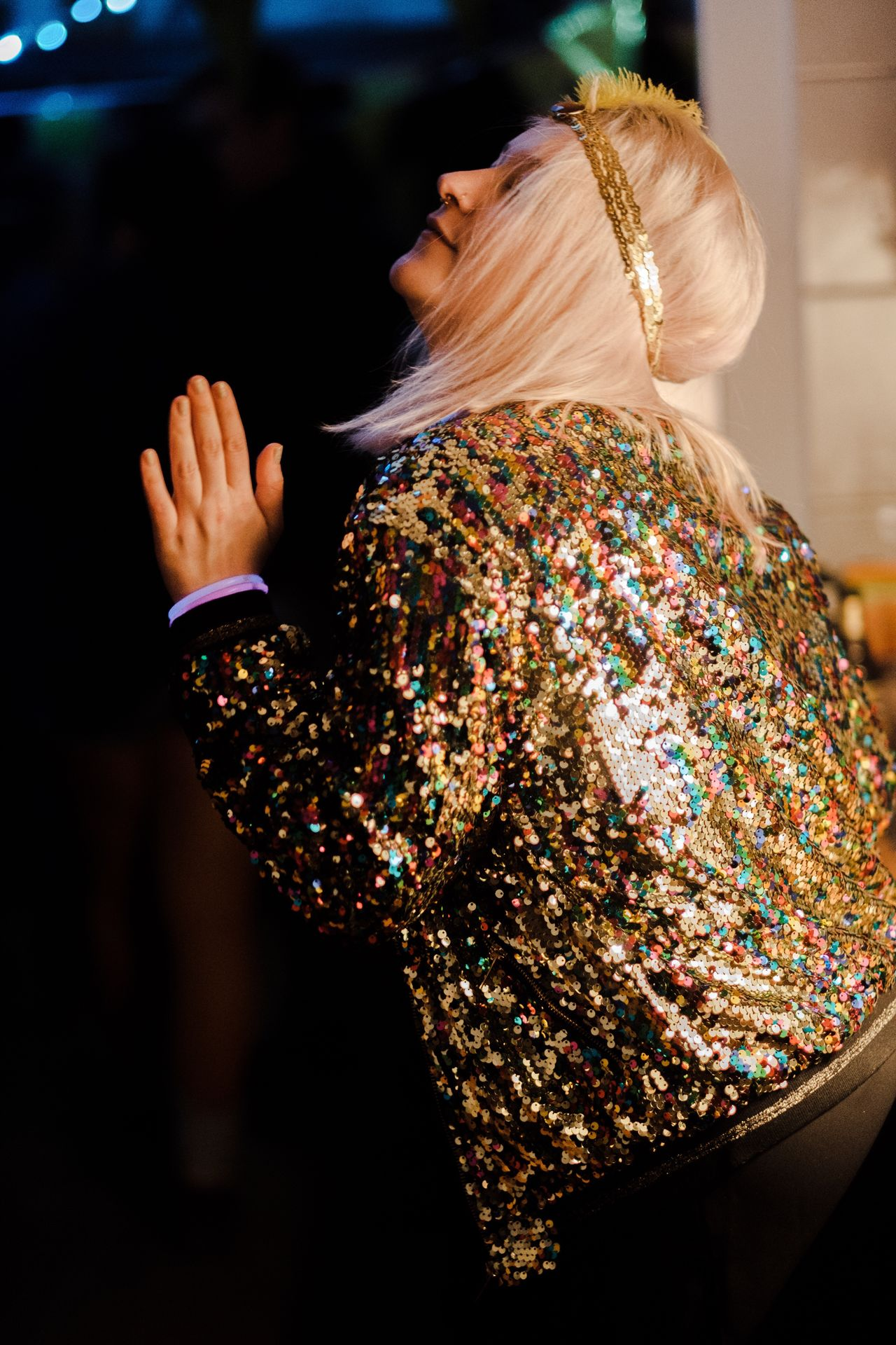 Party Time Party Partying Party Time! Rear View Blond Hair One Person Dancing Indoors  Night Netherlands EyeEm Best Edits EyeEm Gallery EyeEmBestPics EyeEm EyeEm Best Shots EyeEmBestEdits Fujifilm Fujifilm_xseries Vinkeveen Beautiful Woman Glitter Sparks Sparkle Women Around The World