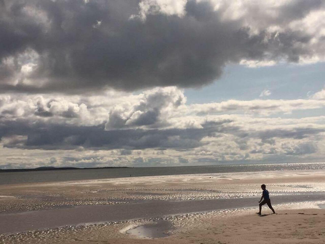 Below Llanstefan castle Beachphotography Beach Photography Beach Beach Life Sky Sky And Clouds Playing Sea Sea And Sky Wales Wales❤ Wales UK Llansteffan Summertime Summer