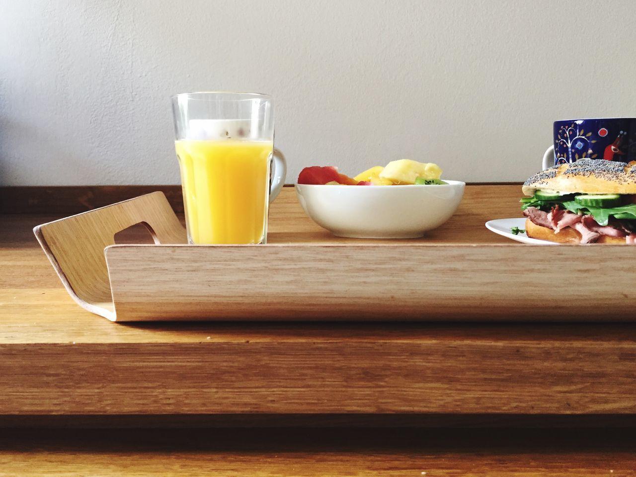 Breakfast Good Morning Orange Juice  Tablet Bread Sandwich Coffee Tee Time Break Food