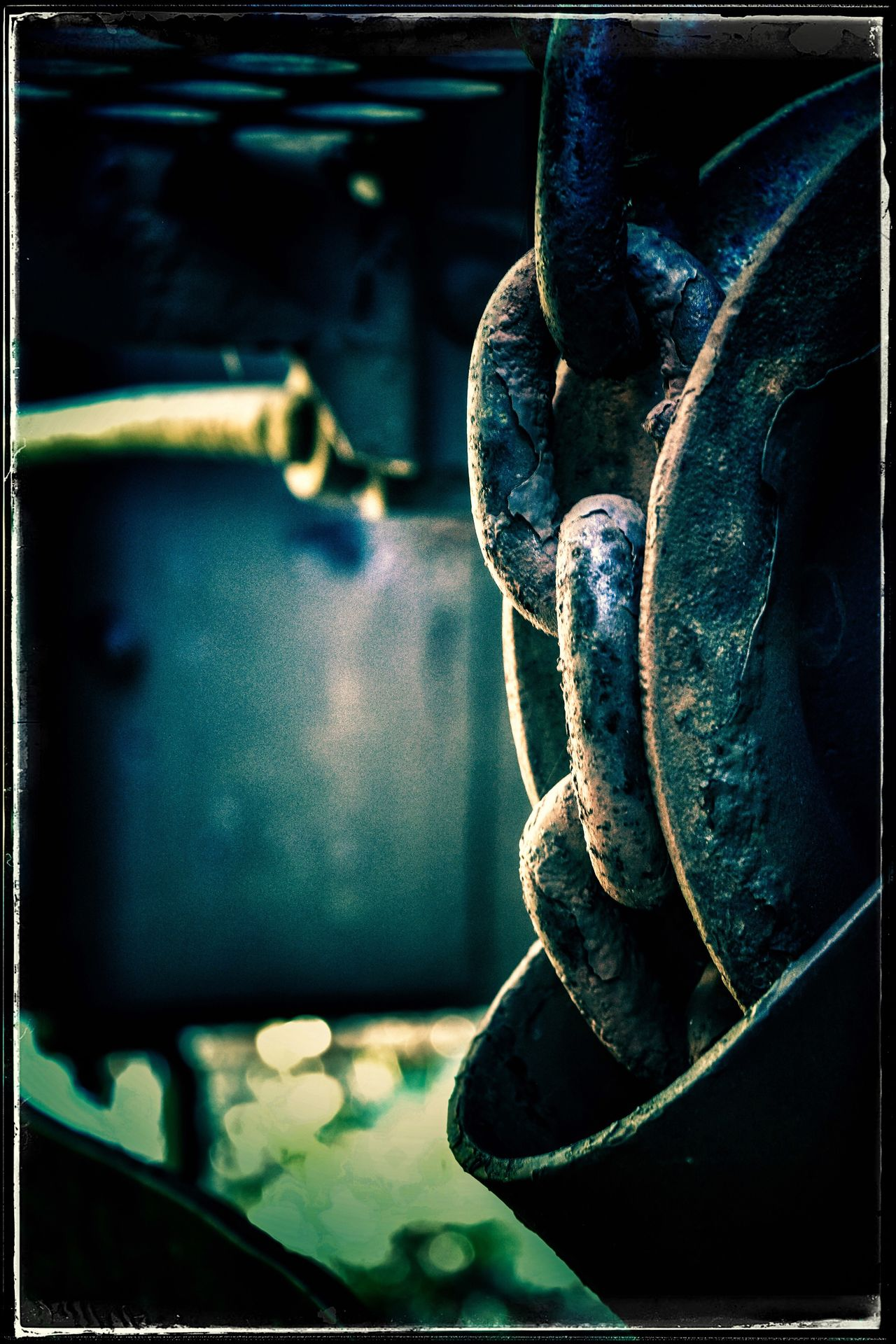 Close-up Metal Rusty No People Day Indoors  High Definition Creepy Dark Industrial Heavy Blue Tint