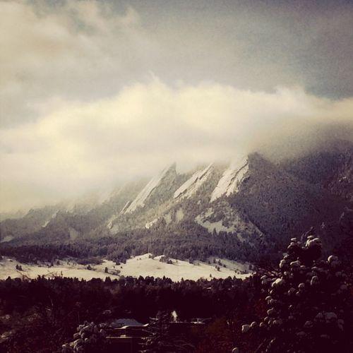 Boulder Flatirons Winteriscoming Snow