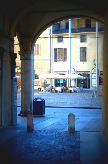 Piazza Broletto Architecture Arco Close Up Cobblestone Historic Italia Italy Mantova Mantua No People Piazza Piazza Broletto Place Side By Side Square