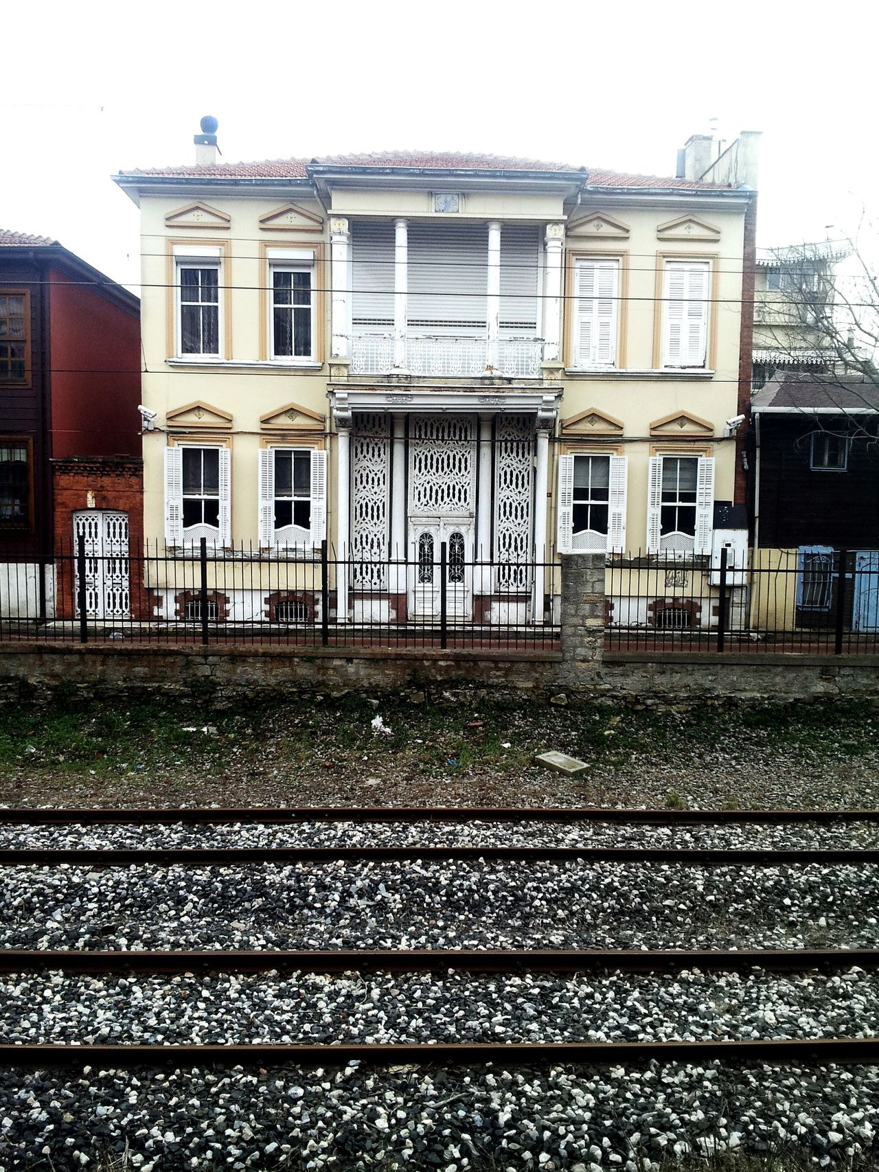 House Winter White BIG Train Train Station Home Back