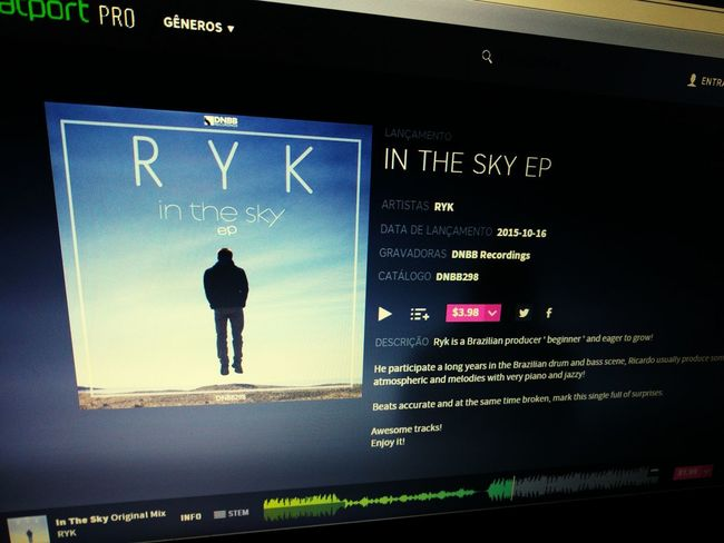 RYK - In The Sky Ep out in beatport ;) Drumandbass Junglist Ryk First Eyeem Photo