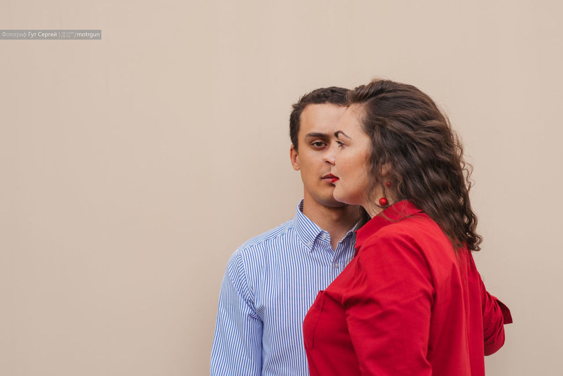 Couple Relationships Day Must Be Love  One Face People Portrait Tougether