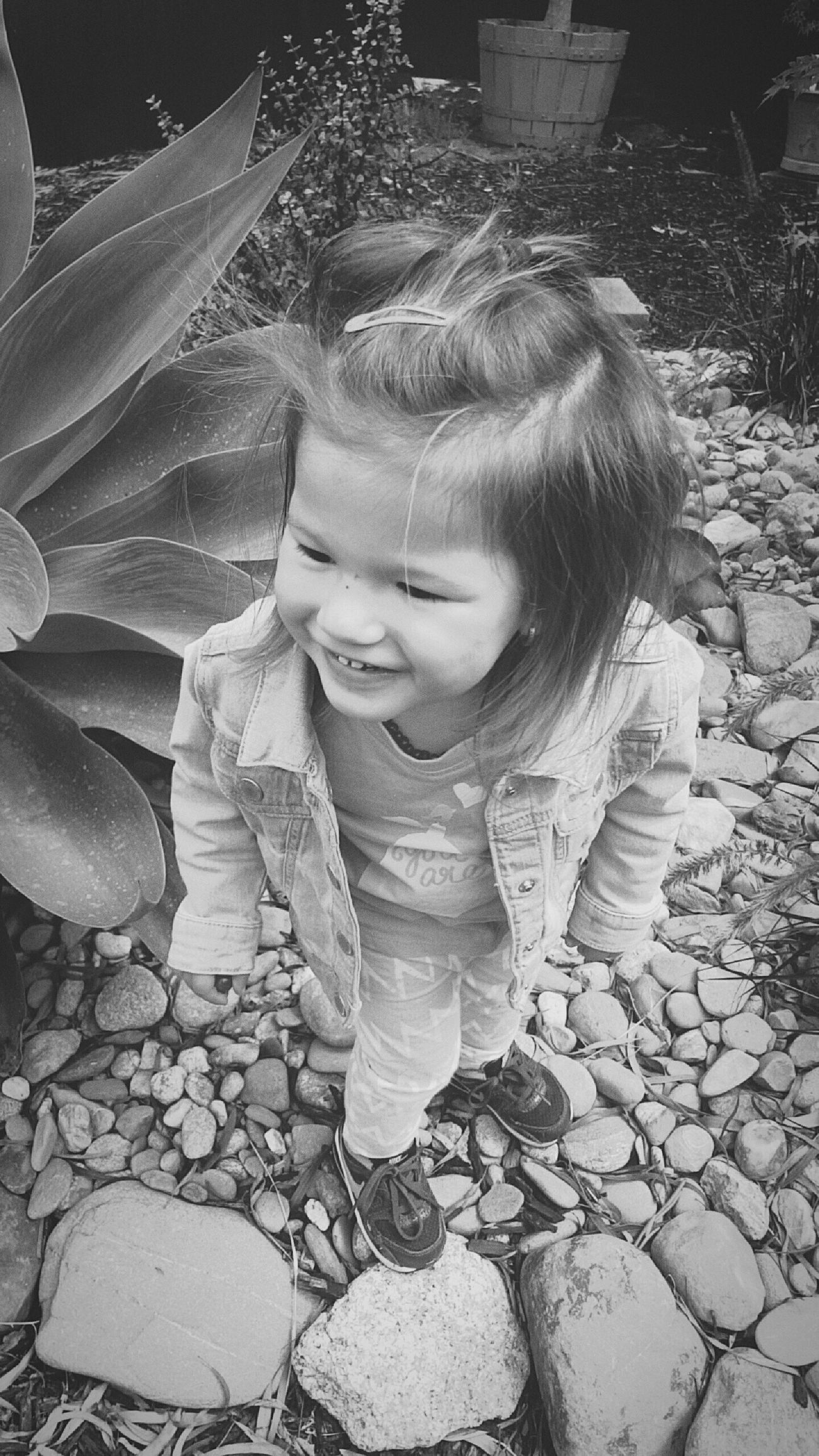 The little one Niece  Family Mylove Happy Kid Smiles Outdoors Backyard Gorgeous Home Inspire Love Createdaily Photography POTD Life