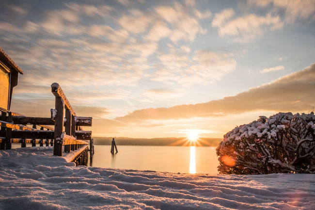 beautiful morning Atmospheric Mood Beach Beauty In Nature Cloud Cloud - Sky Idyllic Lens Flare Majestic Nature Non-urban Scene Orange Color Rippled Scenics Sea Sky Snow Sun Sunlight Sunset Tourism Tranquil Scene Tranquility Vacations Water Winter