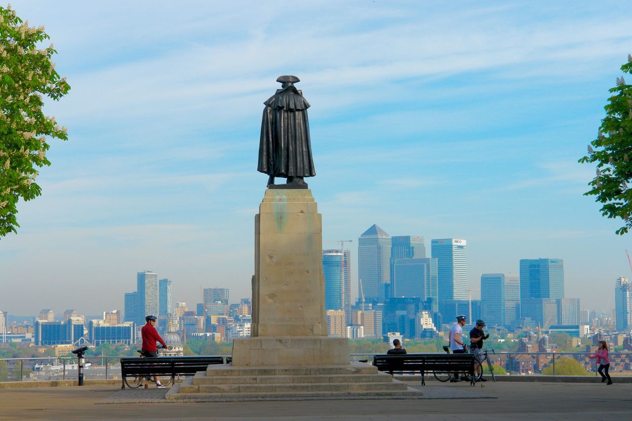 Top of Greenwich Park Architecture City Cityscape Cityscape Day Greenwich Park Human Representation London Military Monument Outdoors Sculpture Sky Statue