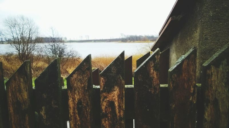 Wood fence Wood Lake
