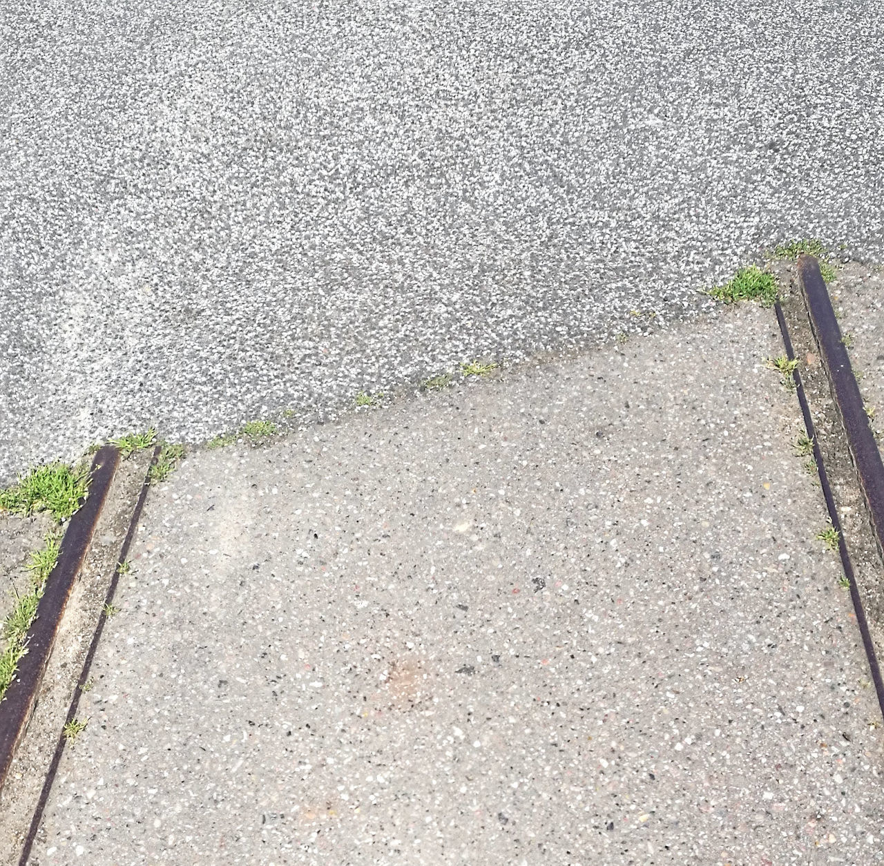 Asphalt Close-up Day End Of Rail Track High Angle View No People Outdoors Road Street
