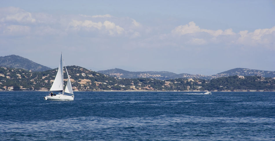 gulf of saint-tropez – french riviera, panorama view Bay Beauty In Nature Boat Coastline Cruising Côte D'Azur France Gulf Of Saint-tropez Landscape Landscape_Collection Lifestyles Mediterranean Sea Mountain Nautical Vessel Panorama Provence Sailboat Sailing Saint-Tropez Sea Seascape Seascape Photography Water Wind Yachting