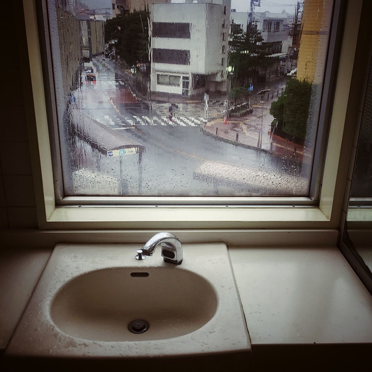 Toilet Rest Room Window Rainy Days Rainy Day
