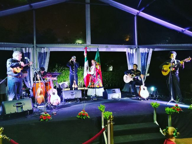 Night Instruments Instrumental Music Event Potography Photo Mexico Embassy Beautifull Beautifull ♥ Evening Party Celebration Independence Day 16 September Great Portugal Band Song Songs Stage Place Playing