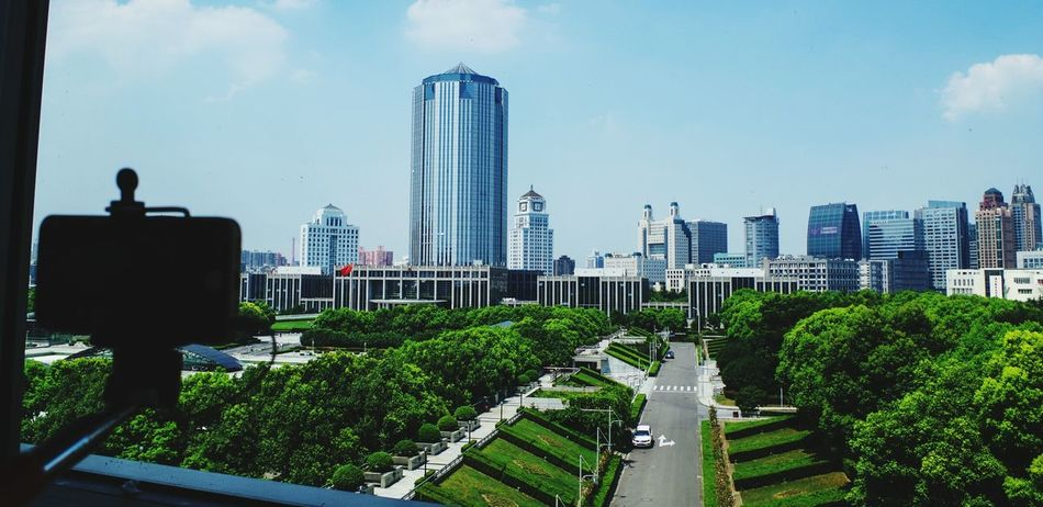 Green City City Architecture Building Exterior Sky Urban Skyline Cityscape Growth City Life Business Finance And Industry Built Structure Outdoors Tree No People Nature Day Shanghai Science Museum  Shanghai Natural History Museum Flying High