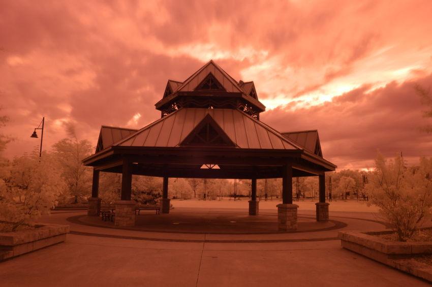 Port Credit Memorial Park Gazebo - Long Exposure [IR+UV] Nikon D3200 full spectrum | Nikkor 18-55mm Kit Lens | 18mm | f/22 | 30sec | ISO 100 | Shutter Priority Auto | B+W 403 UV+IR Passing Filter (Visible Blocking) B4after Exif