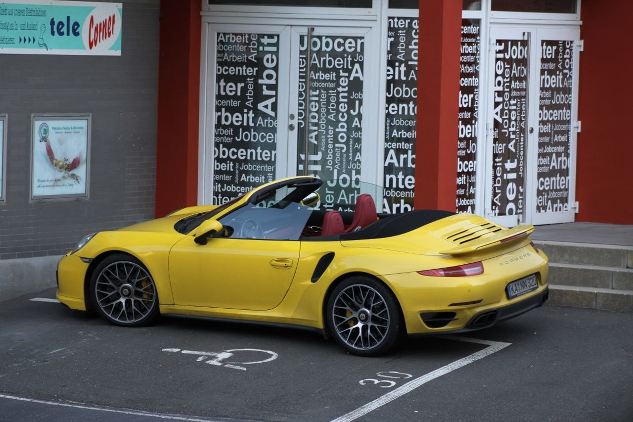 Car Day No People Porche Sports Car Transportation Yellow