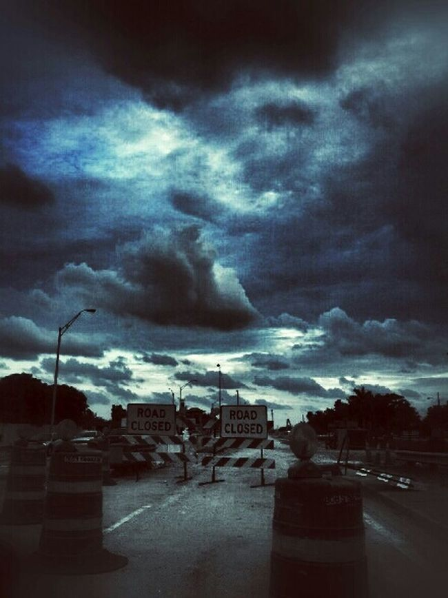 """Oh heck nooo!... Winston Churchill said """"If you're going through hell, keep going."""" - why are you closing the roads on me now? not cool! ;/ On The Road Cloudporn EE_Daily: Blue Friday Driving Shots"""