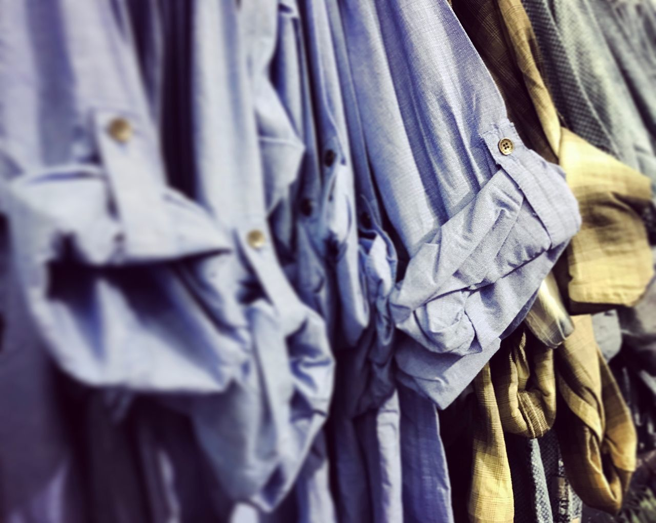 Hanging Large Group Of Objects Close-up No People Indoors  Indoor Photography Day Shirts Long Sleeved Long Sleeves Clothing Sleeves Men's Fashion Fashion Shopping Time Shopping ♡ Manga Mangas Point Of View