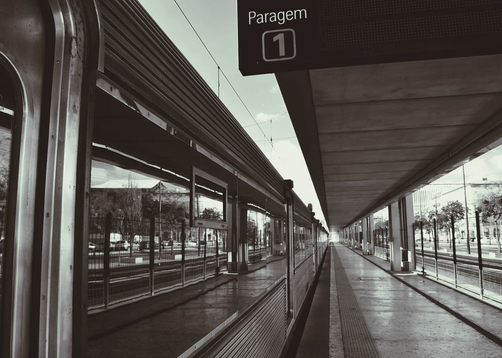 All aboard Lisbonlovers Photooftheday Instagood Lisbon Igportugal Mobilephotography Portugal Picoftheday Traveling Train Blackandwhite