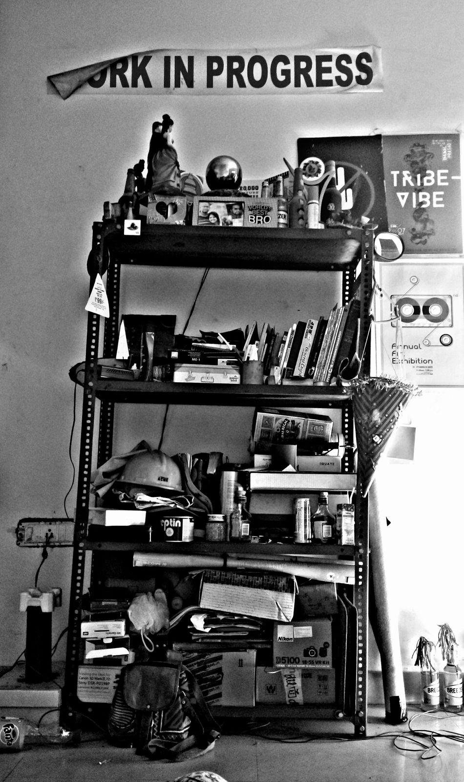 Work in progress... Blackandwhite Shelf Showcase March Life Busy ChillTimes