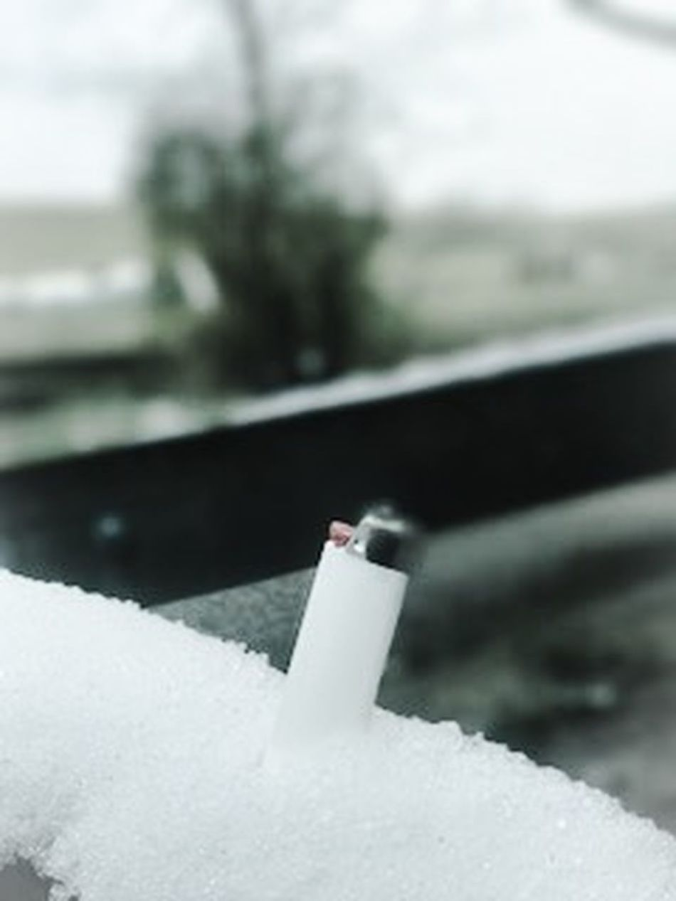 Ash Ashtray  Bad Habit Close-up Cold Temperature Danger Day No People Outdoors Snow Water Winter