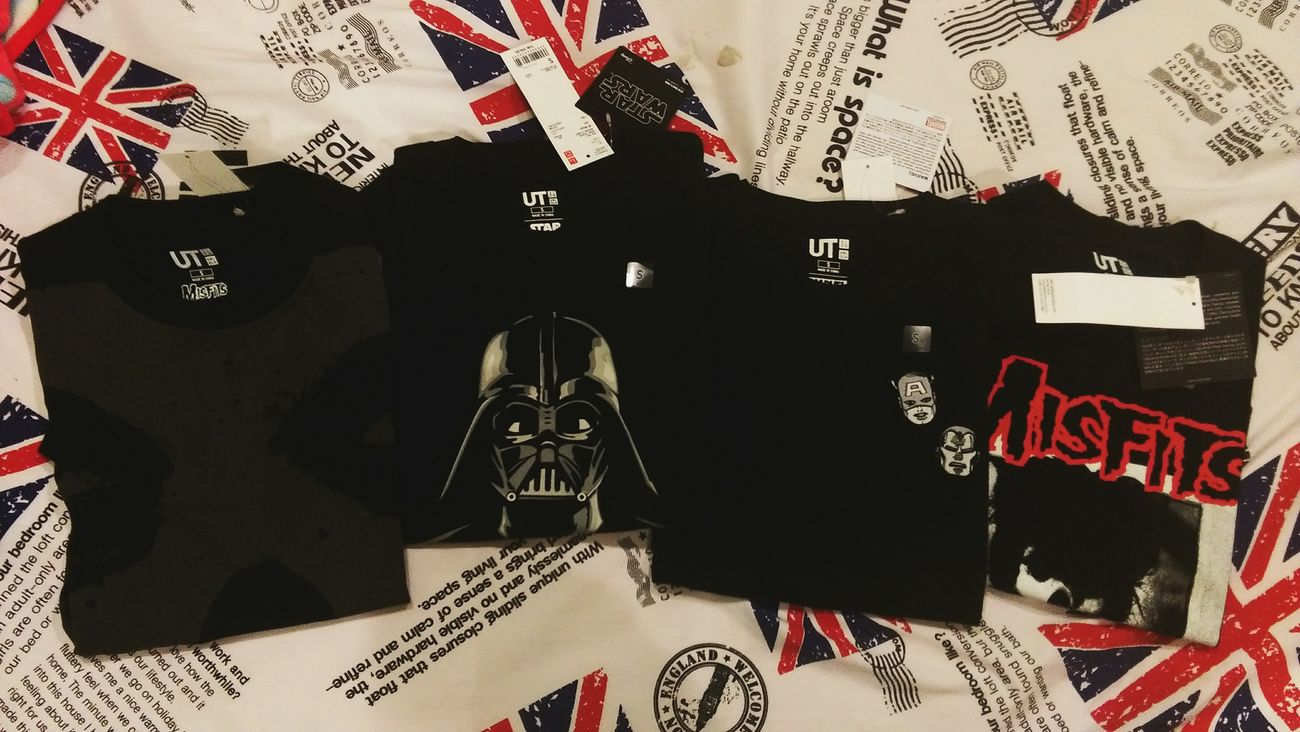 I got them!! Shrit Mavel  Drakside Darthvader Captianamerica Ironman Misfits Starwars