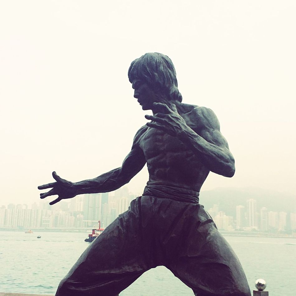 The one and only, legendary Bruce Lee. Victoria Harbour HongKong Monuments Bruce Lee Statue Sculpture Legend Martial Artist Tribute