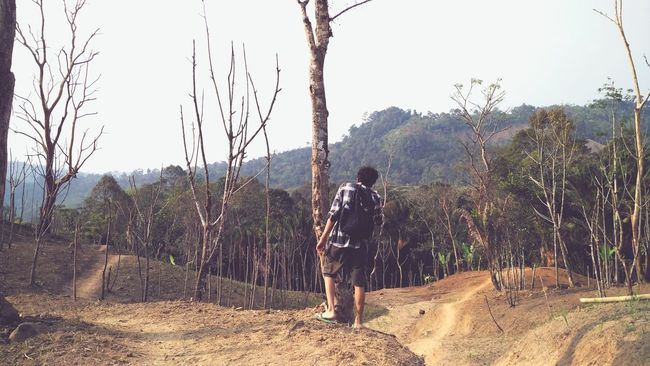 After walking like a thousand miles. I'm glad we made it. Baduy