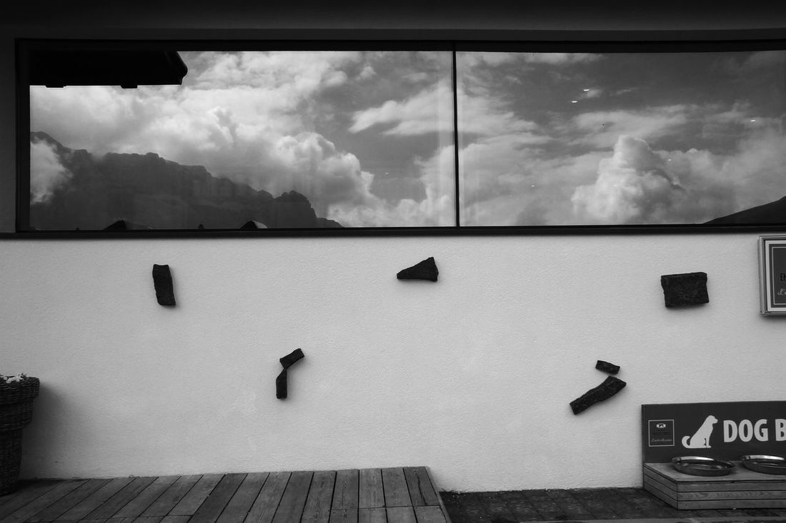 Mirror Window Architecture B&w Building Exterior Built Structure Cloud - Sky Day Mountain View In Glass Nature No People Outdoors Sky Window