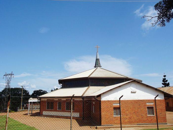 Bbina Parish Church Luzira, Uganda Blue Sky Light Clouds Sunny Day Travel Photography