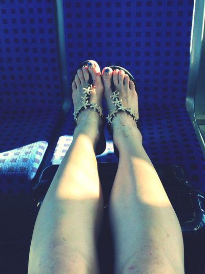 Tired legs Travelingfoot Train
