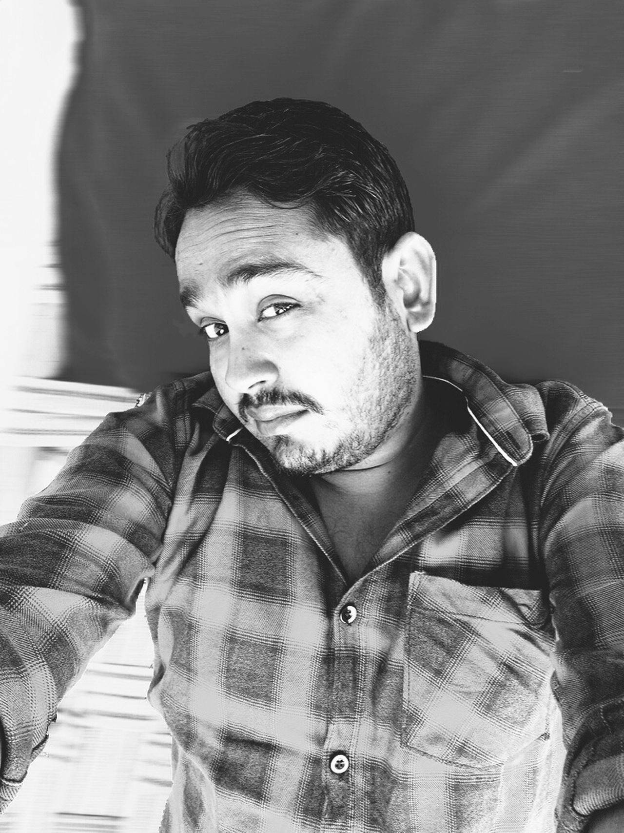 DSLR DSLR Photography Blackandwhite Black And White Blackandwhite Photography Selfie✌ Selfie ✌ Selfie ♥ Self Potrait One Person Only Men Beard One Man Only Portrait Waist Up Lifestyles Front View Close-up Indoors  Human Body Part Real People