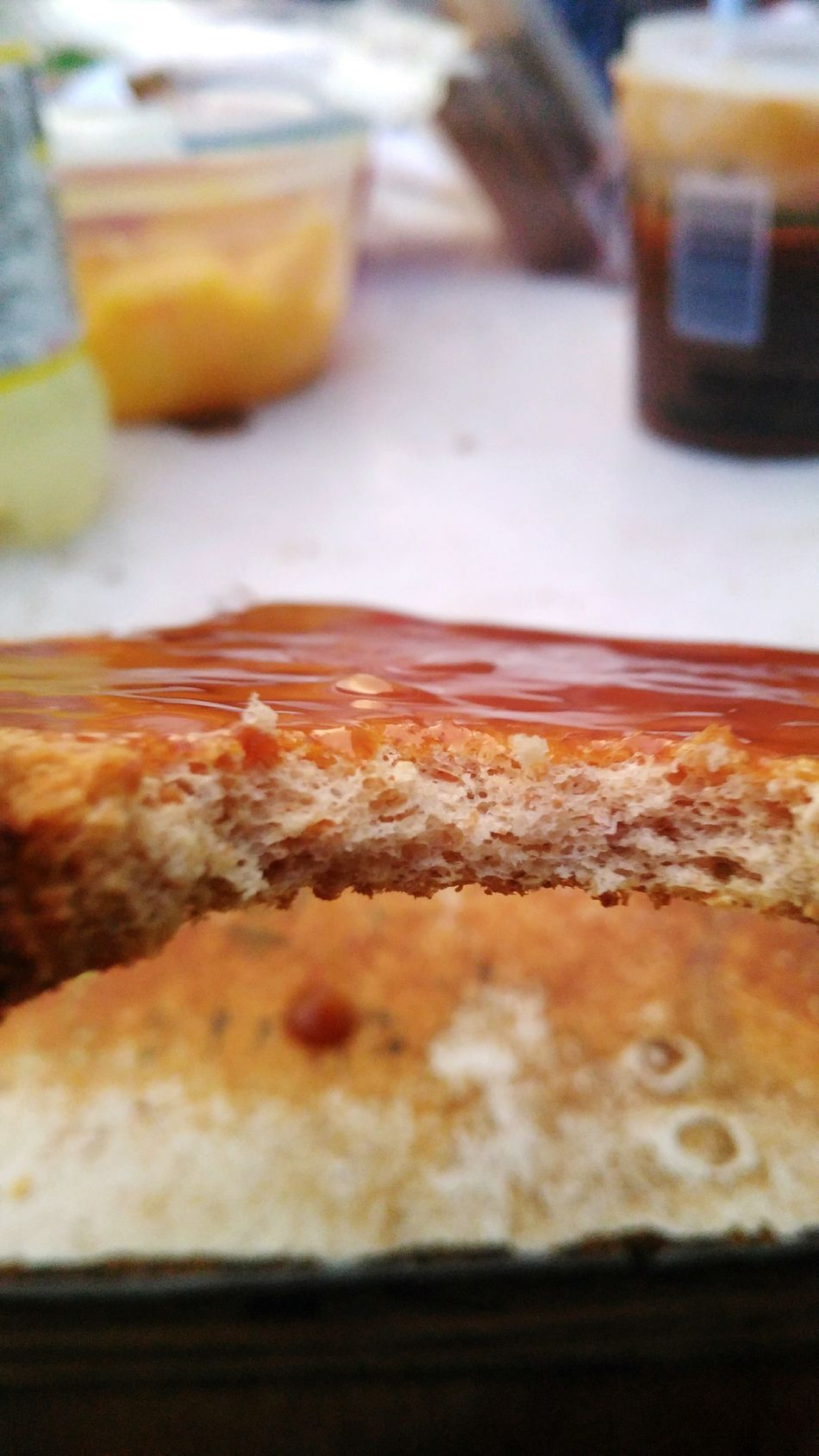 French Toast topped with Caramel. It was delicious, but messy. Breafkfast Lunch Dinner Food Table Toast🍞