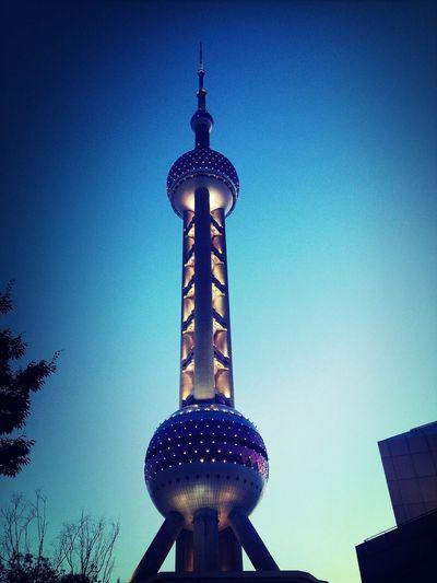 Pearl Tower blue hour Shanghai
