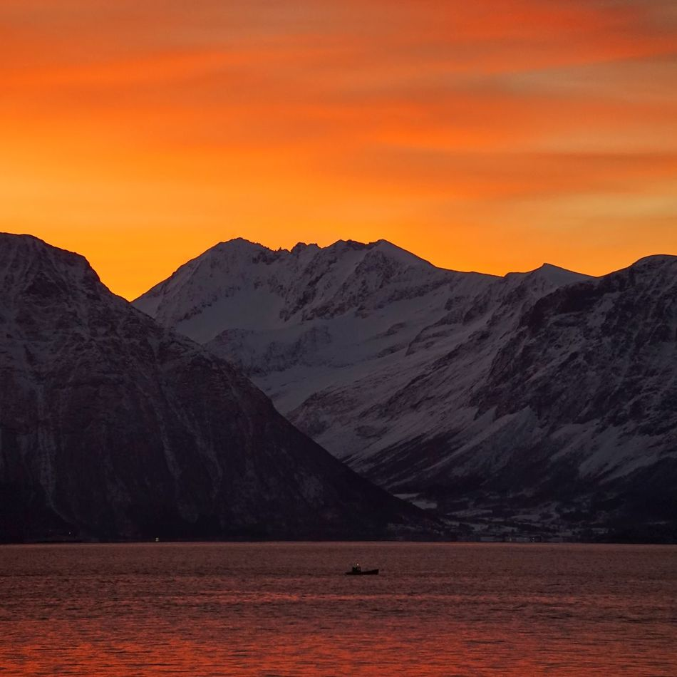 Morning mood. Sunrise Skyporn Nature Landscape Showcase March Eye4photography  EyeEm Best Shots Mountains Norway Seaside Clouds And Sky Sea And Sky Sky_collection