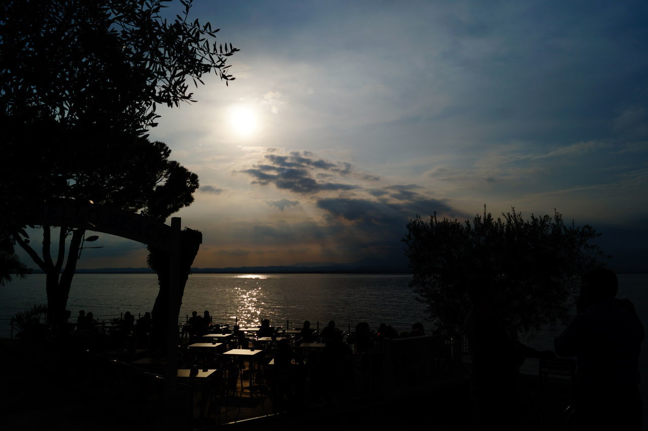 Aperitivo  Aperitivo Time Bardolino Beach Beauty In Nature Gardasee Horizon Over Water Idyllic Lake Lens Flare Nature Reflection Scenics Sea Shore Silhouette Sky Sun Sunbeam Sunlight Sunset Tranquil Scene Tranquility Landscapes EyeEm Best Shots